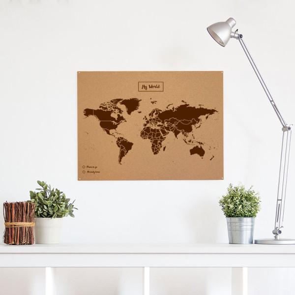 mapa del món de suro de Misswood